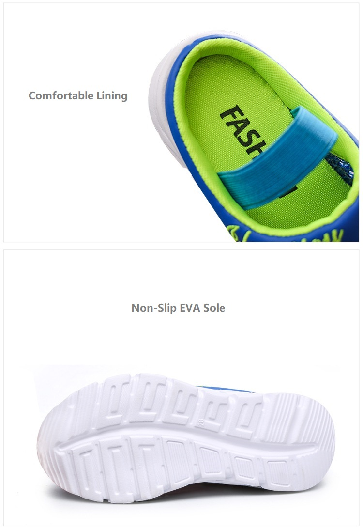 b16fd1c6fef5b ซื้อ COZULMA Kids Beach Sandals Boys Girls Summer Slippers Shoes Children  Closed Toe Air Mesh Designer Toddler Sandals Size 26-36 ออนไลน์ ส่งฟรี ...