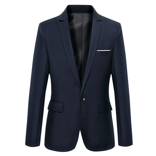 new men's clothing casual slim jacket men solid color single button blazer drop shipping