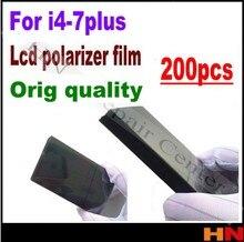 200pcs Polarizer Polarize Light Film polarizering film for iPhone 4 4s 5 5s 5c se 6 6s 7g plus 4.7 5.5inch
