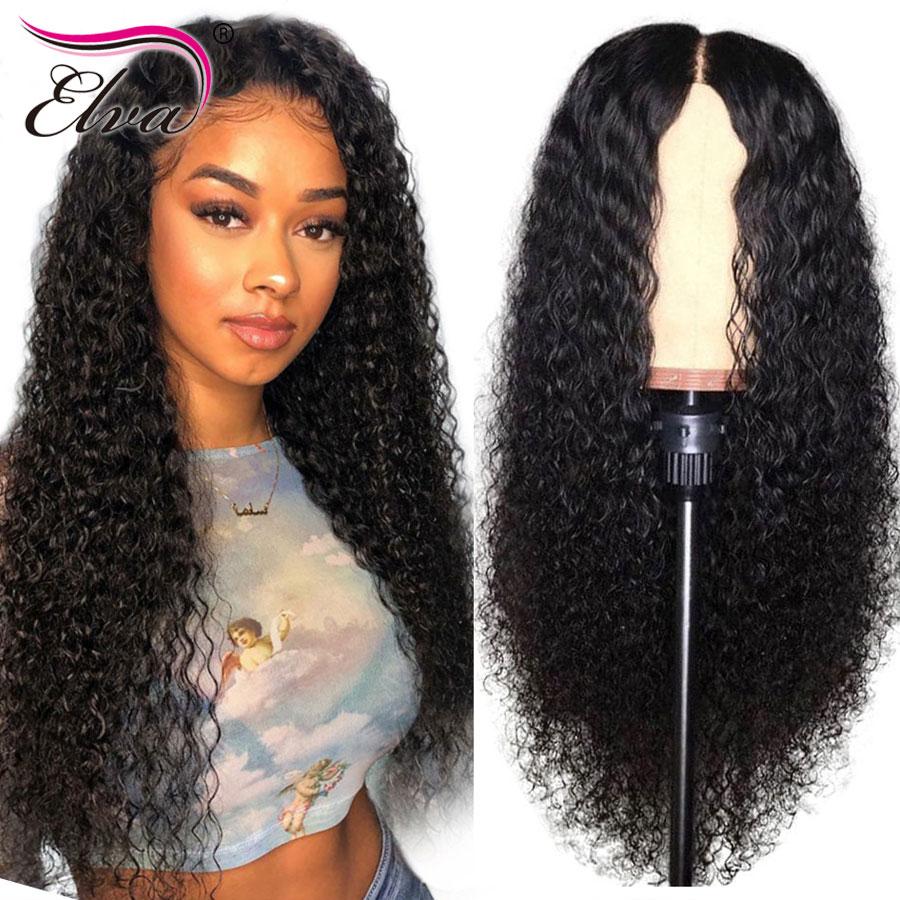 Волосы ELVA 360 кружевных фронтальных париков для черных женщин бесклеевая кудрявая кружевная передняя часть человеческих волос парики предварительно сорвал с волосами младенца remy