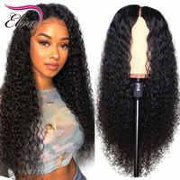 Elva Hair 360 Lace Frontal Wigs For Black Women Glueless Curly Lace Front Human Hair Wigs Pre Plucked With Baby Hair Remy Hair