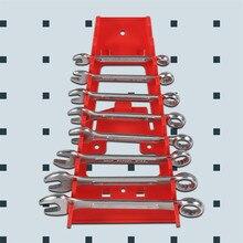 Красный 9 Слот полка для гаечных ключей Стандартный Органайзер держатель инструменты настенный Etagere де дальномер кухонный Органайзер стойка