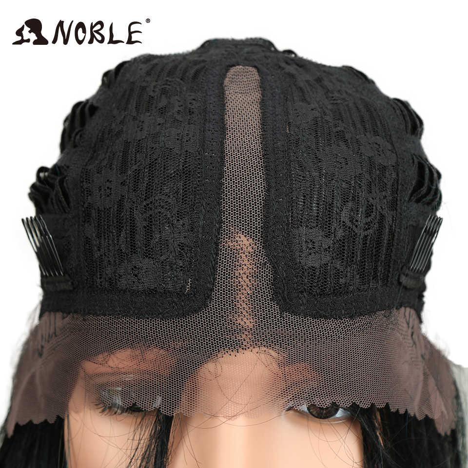 Благородный волос синтетические волосы 14 дюймов термостойкие синтетические парики для Для женщин натуральный глубокий средняя часть места Синтетические волосы на кружеве парик «пучок» короткие прямые волосы