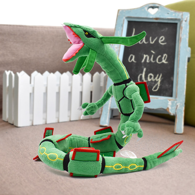 Free Shipping 80cm Green Rayquaza Plush Toys Figure Stuffed Anime Toy