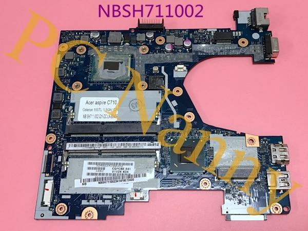 P/N NB.SH711.002 NBSH711002 Q1VZC LA-8943P For Acer Chromebook Q1VZC C710 Intel Celeron 1007U Motherboard