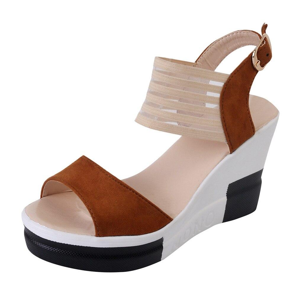 HTB1N3lmaEzrK1RjSspmq6AOdFXaY new fashion Wedge women Shoes Casual Belt Buckle High Heel Shoes Fish Mouth Sandals 2019 luxury sandal women buty damskie