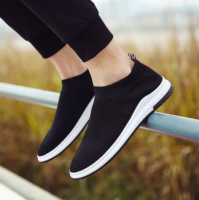 red Otoño Pisos grey Acoplamiento Los La Black Zapatos Hombres De Casual Manera En Respirable Calidad Alta Deslizamiento ZZ7aR