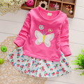 Spring wear cotton dress girls high fashion dress baby cute princess dress long sleeve children clothes