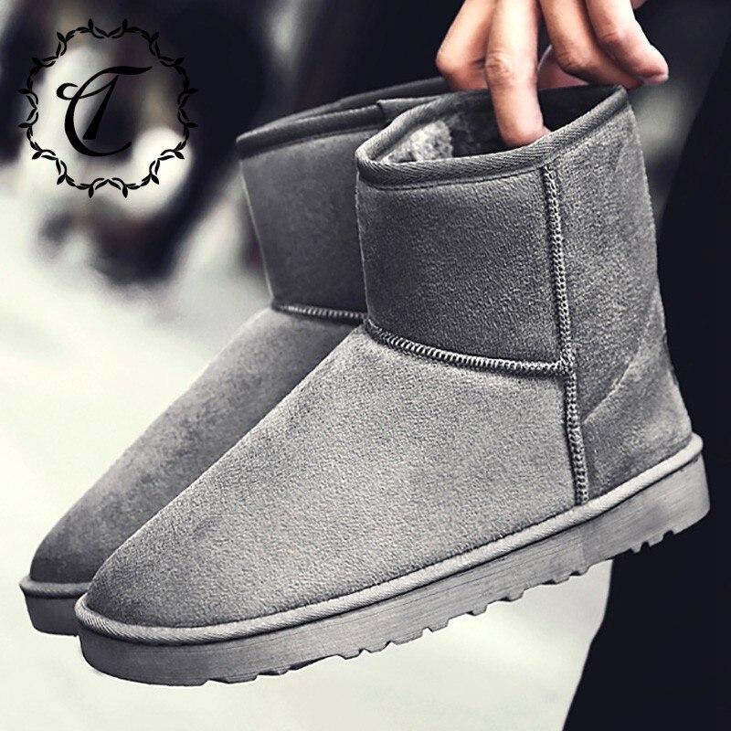 CatriCa Large Size Winter Suede Women Male Men Shoes High Top Quality Designer Fashion Snow Boots 2019 Blue Brown Gray Black 218 zapatillas de moda 2019 hombre