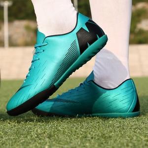 Image 5 - כדורגל נעלי גברים דשא Spikes כדורגל ילד נשים חיצוני אתלטי מאמני סניקרס מבוגרים מותג מקצועי כדורגל Futbol