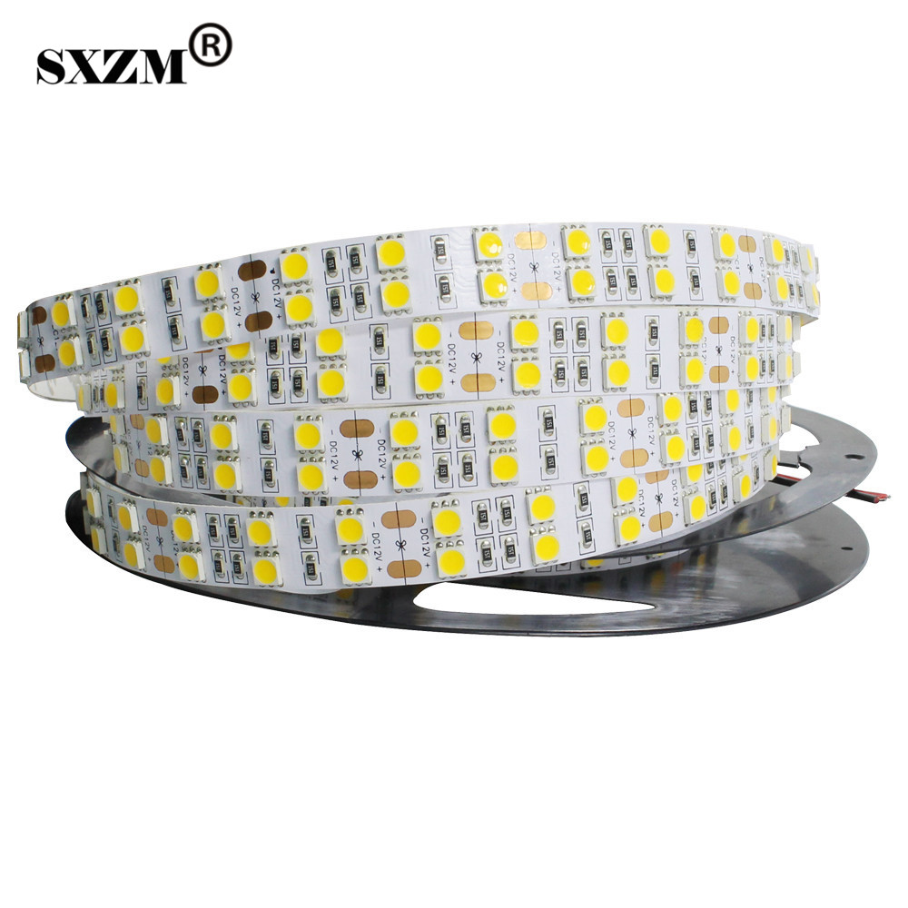 SXZM led strip double row 5050 DC12V 120led/M non