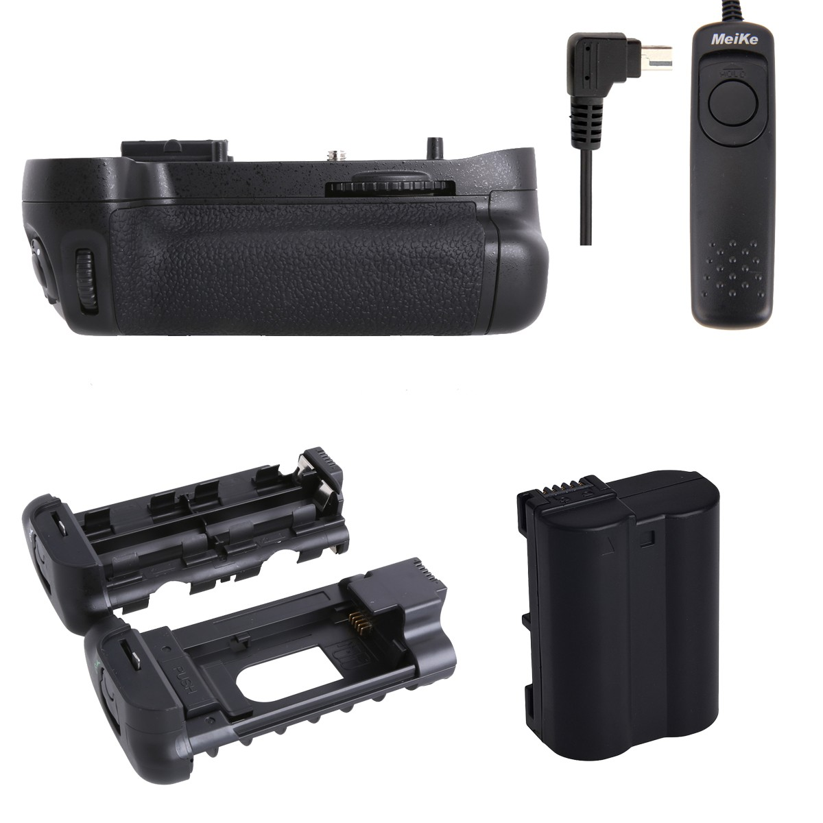Meike MK-D7100 Battery Grip for Nikon D7100 as MB-D15 + EN-EL15 + Shutter release meike mk dr750 vertical battery grip pack holder for nikon d750 rechargeable li ion battery for nikon en el15 cleaning kit