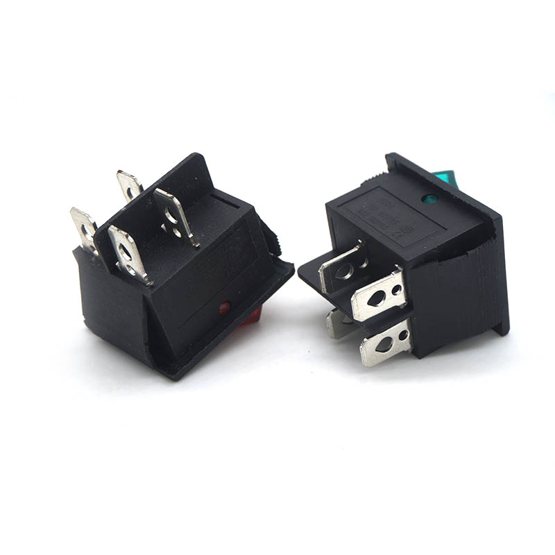 Latching Rocker Switch Power Switch I O 4 Pins and 6 Pins With Light 16A 250VAC 20A 125VAC KCD4 in Switches from Lights Lighting