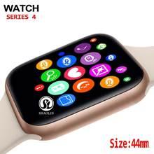 Montre connectée série 4, bracelet connecté 44mm, compatible avec Apple Watch série 5, iphone 8, X, téléphone Android