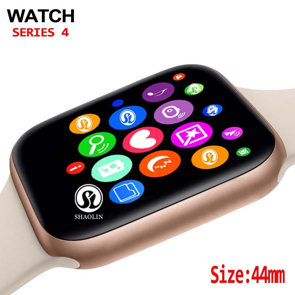 44mm montre intelligente série 4 horloge synchronisation notifiant soutien connectivité Apple iphone 7 8 X Android téléphone Smartwatch soutien Facebook