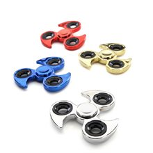 The New Electroplating Fidget spinner Decompression Spiral Iron Paint Gyro Gyro Ball Weight Models >6years old Hand Spinner(China)