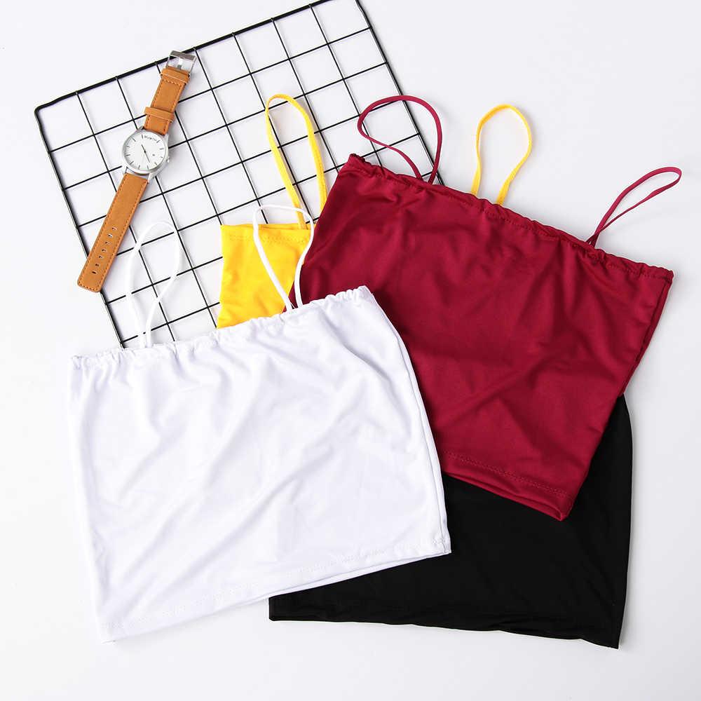 קיץ חדש נשים מכתף גופייה בגדים סקסי V-צוואר יבול חולצות ללא שרוולים כותנה אפוד טנק בגדים מוצק צבע אפוד