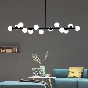 Moderne hängende lampe licht LED dinning bett wohnzimmer schlafzimmer foyer runde glaskugel schwarz gold nordic einfache moderne pendelleuchte lampe