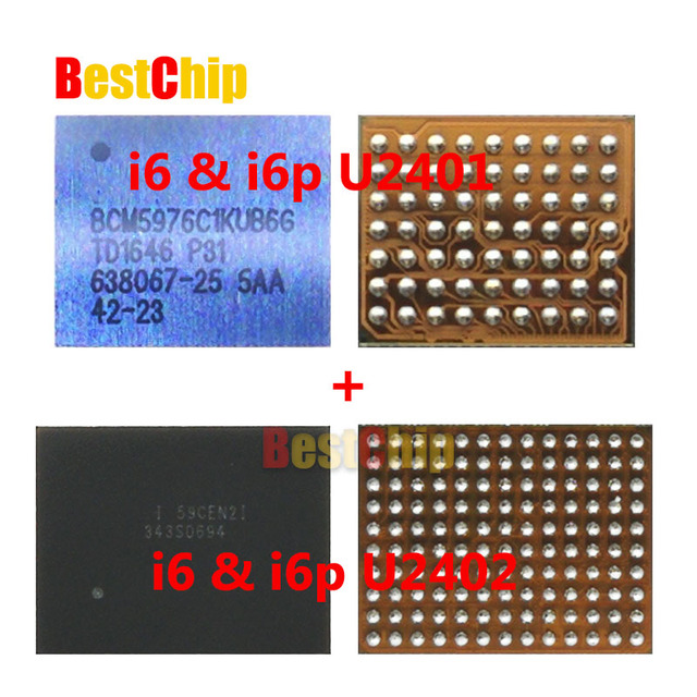 huge selection of 7bb1d 5e24d US $84.5 |10pair/lot 100% New and Original touch screen ic for iphone 6  6plus white U2401 + black U2402-in Integrated Circuits from Electronic ...