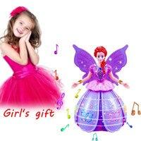 MUQGEW Mädchen Tanzen Prinzessin Multifunktions Musik Figuren LED Pet Elektronische Roboter mehr als 3 jahre Spielzeug für Kinder