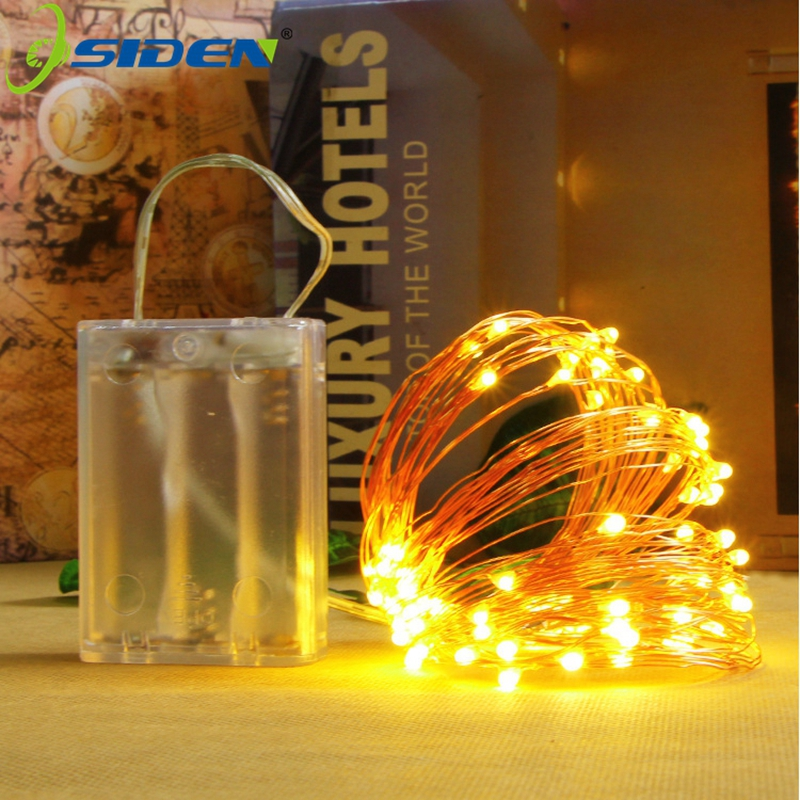 LED String Light CooperWire 2M5M10M Battery Lights Fairy For Party Christmas Wedding Holiday Outdoor Indoor Decoration