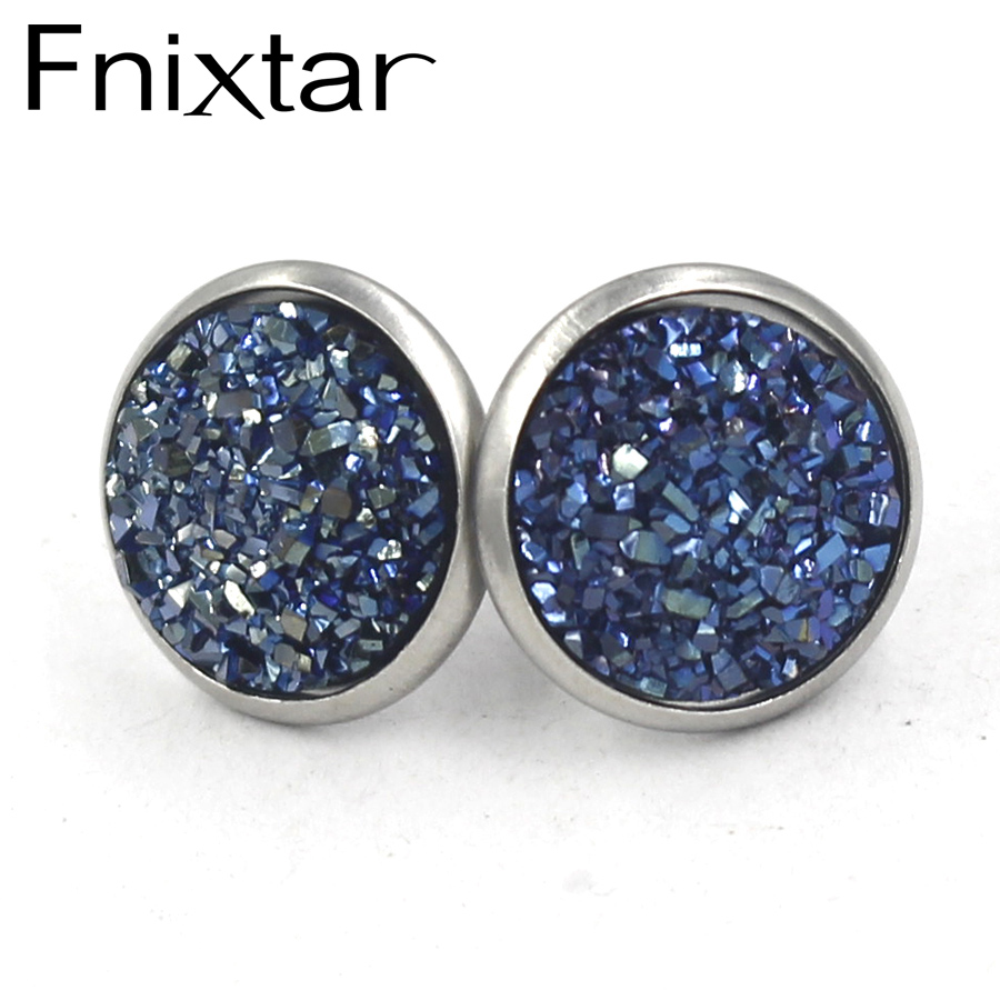 Fnixtar Stainless Steel Mermaid Scale Charms For Jewelry 12colors ...