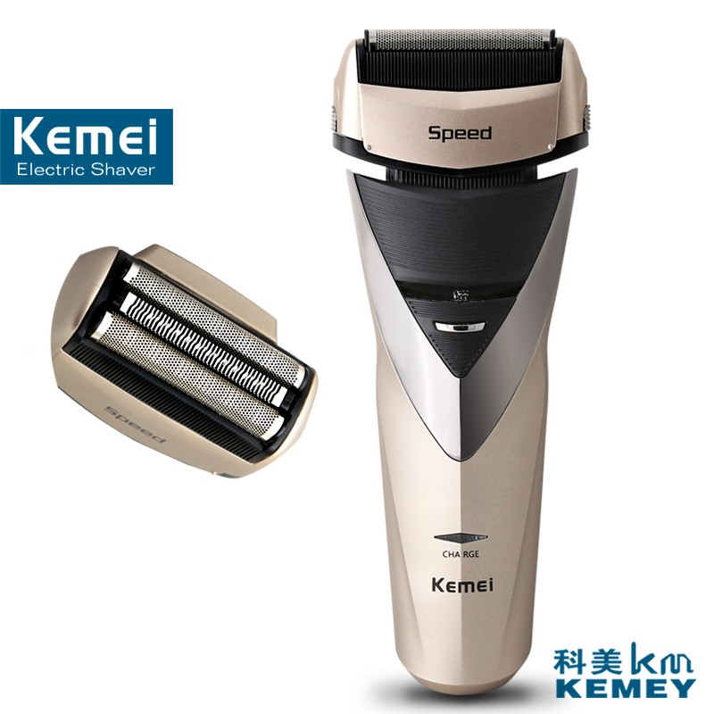Kemei factory direct beauty body wash twin blade cutter head men face care Shaver razor electric rechargeable shaveing for man