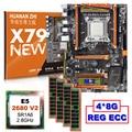 Скидка компьютерного оборудования HUANAN Чжи Deluxe скидка X79 материнской платы с M.2 NVMe Процессор Xeon E5 2680 V2 SR1A6 Оперативная память 32G (4*8G) RECC
