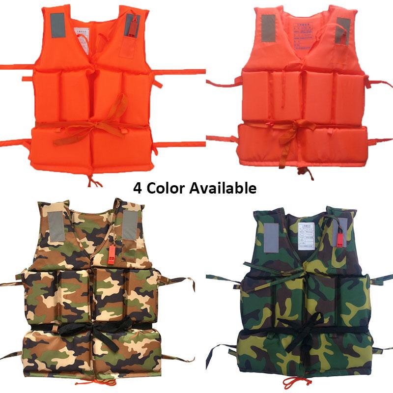 Professional Kids Adult Men Life Jack  Buoyancy Life Vest Swimming Boating Safety Ski Survival Life Vest Whistling Drifting