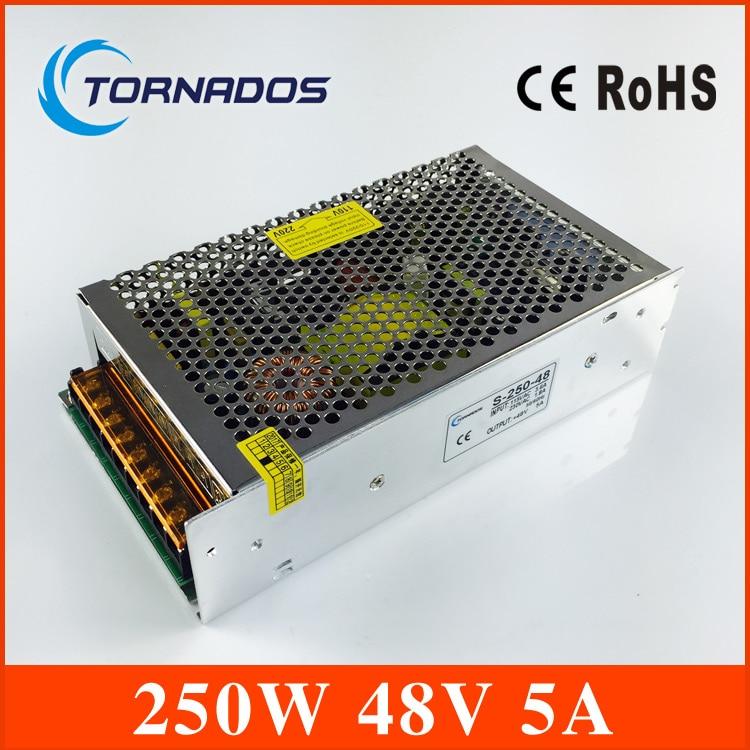(S-250-48) tension constante AC à DC 250 W 48 v 5a alimentation 48 v alimentation à découpage pour LED bande de lumière AC à DC