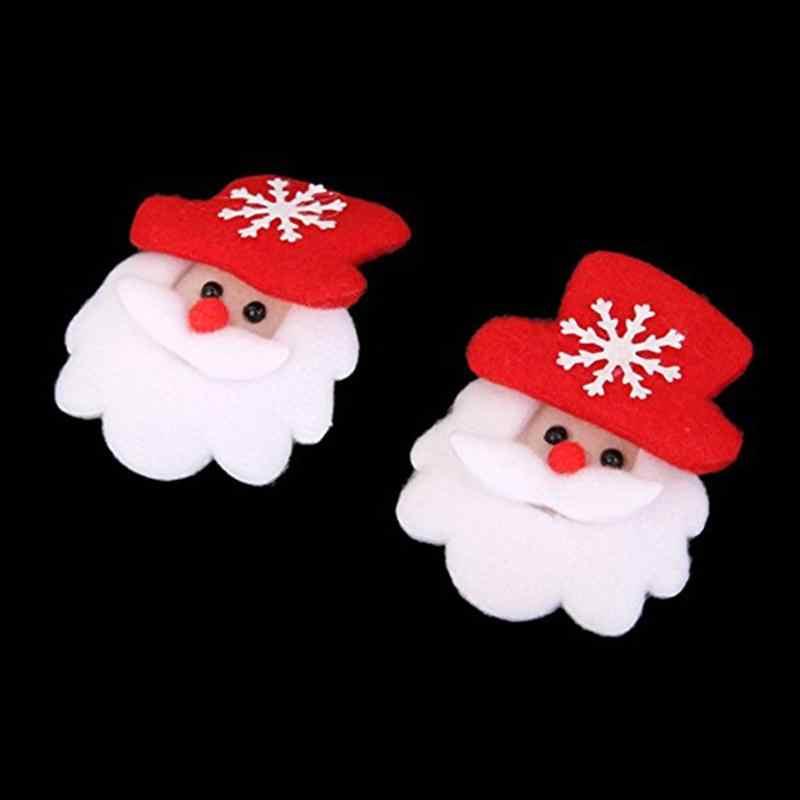 12 pcs LED Sekejap Natal Bros Pin Partai Hadiah Nikmat-Santa Claus