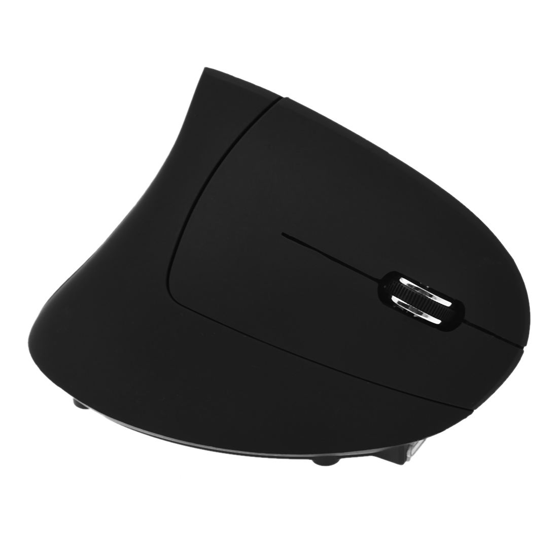 Vertical Ergonomic Optical 6-Button 2.4 GHz RF Wireless Mouse - Right Hand Orientation Black image