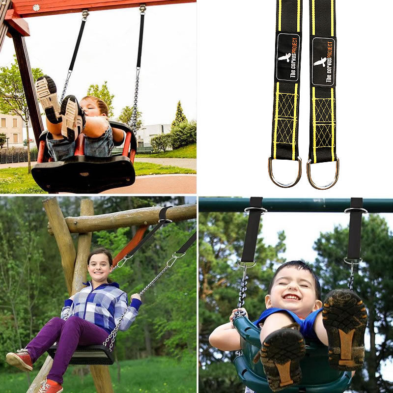 328 PromotTree Swing Straps Hanging Kit,2 Pcs Tree Swing Straps Carry Pouch & Safety Lock Carabiner Hooks, Holds Up To 2800 Lbs