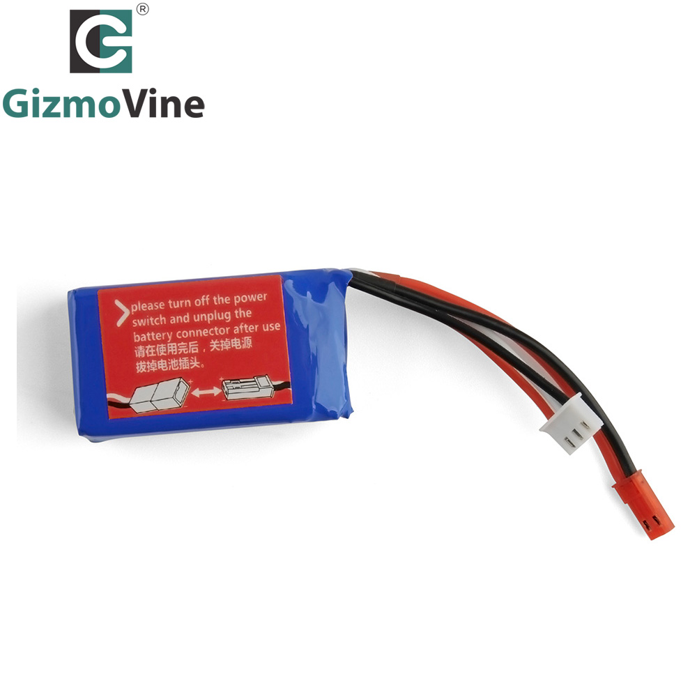 GizmoVine 10PCS/lot Battery RC cars Rc Lipo Battery RC Car Spare parts for 1/18 Scale A959 A979 RC Car Off-Road Vehicle