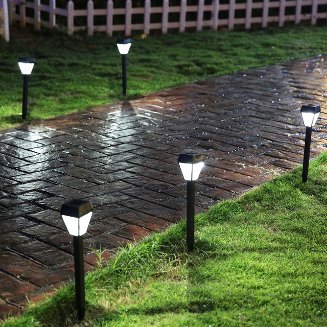 Small Garden Solar Spot Lights: Lawn Light Outdoor Lawn Lights Inserted D Solar Garden