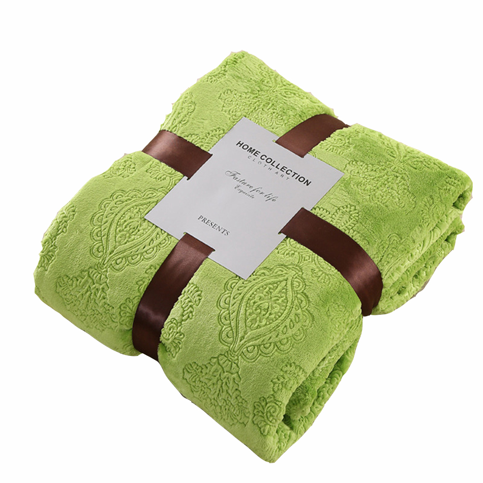 online get cheap green blankets aliexpresscom  alibaba group - green fleece blanket on the bed polyester throw blanket forsummerautumn