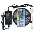 Waterproof RGB Led Strip 5050 5M IP65 Flexible Led Tape Ribbon + 44key RGB Remote controller + DC12V 3A 36W Power Adapter