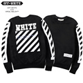 Off White Hoodies Men Women Striped Religious Jesus Twill 13 Printing HipHop Sweatshirts 2016 New Cotton Couples Off WhiteHoodie