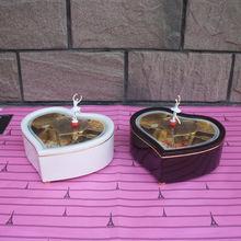 2017 Heart Shaped Twirling Ballerina Music Box Girl's Jewel Case Valentine Gift Handicraft Furnishing Articles