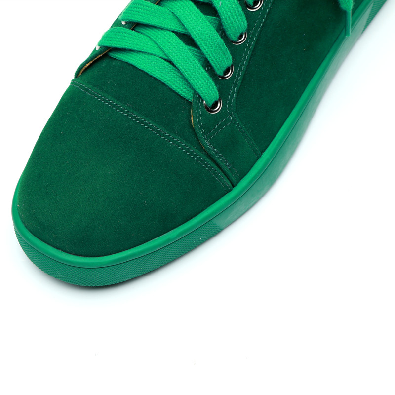 SHOOEGLE Plus Size39 47 Chaussures Hommes Men Green Suede Sneaker Lace up Flat Low Top Shoes Men Runway High Quality Shoes - 5