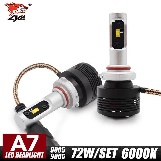 LYC 1Pair 9005 Car Bulb Types 12 Volt Automotive Led Light Bulbs 12v ...