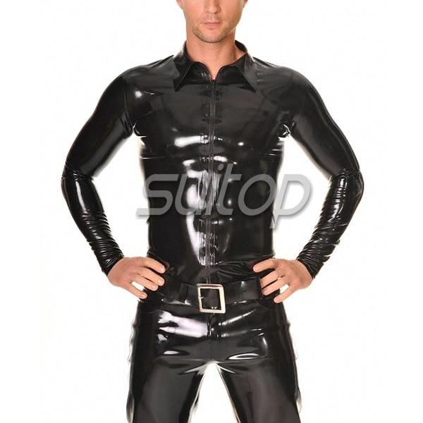 Leather Long Sleeve Shirt Mens