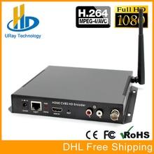 HDMI + AV CVBS Wi-fi Encoder SD HD De Áudio E Vídeo codificador H.264 IP Codificador de Hardware Suporte PAL NTSC Para IPTV, Transmissão ao vivo, servidor
