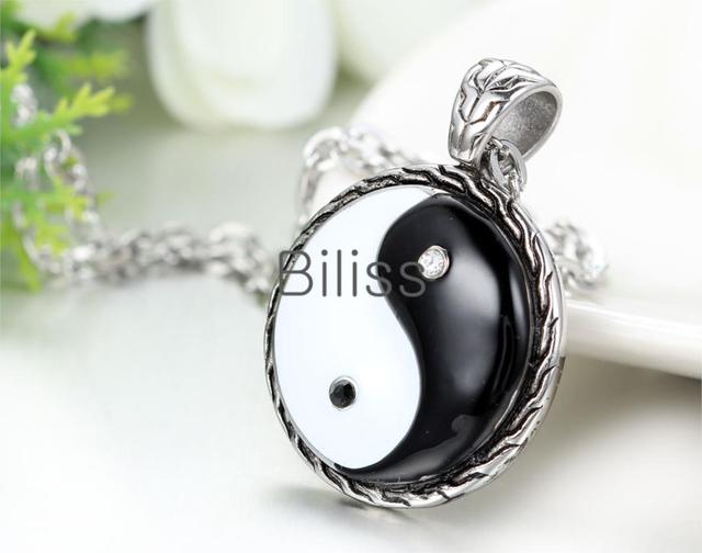 HOT Chinese Mystical Yin Yang Pendant Necklace stainless steel necklaces Bagua pendant New Fashion Men Jewelry