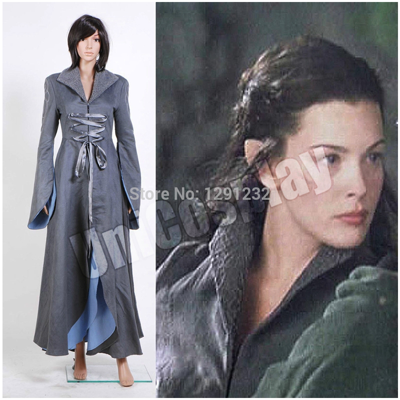 The Lord of the Rings Arwen Chase Dress Cosplay Costumes Halloween Dresses Uniform for Woman Girls