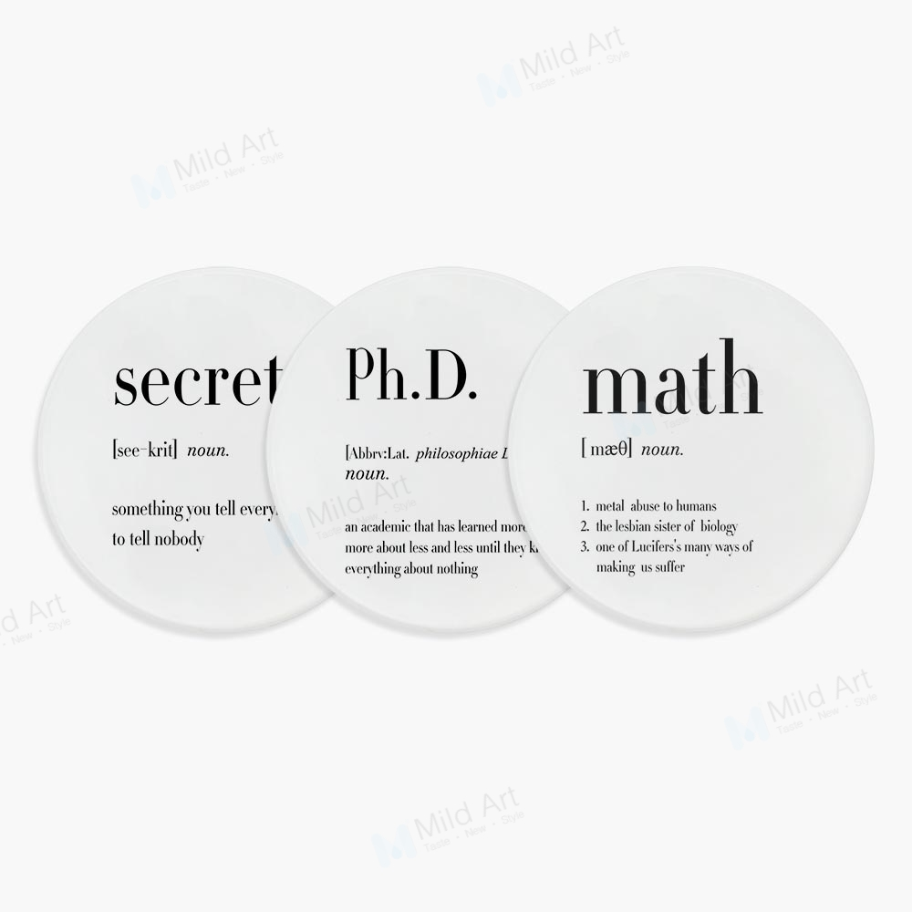 Nordic Black and White Humor PHD Quotes Funny Math Ceramic ...