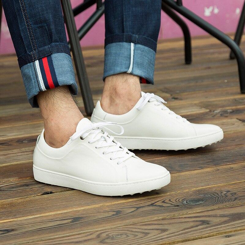 Cuero Diseñadores Ligero Casuales Tenis Casual Zapatillas Lujo Hombres Zapatos Masculino Blanco Adulto De Mycolen Para v8Ewq