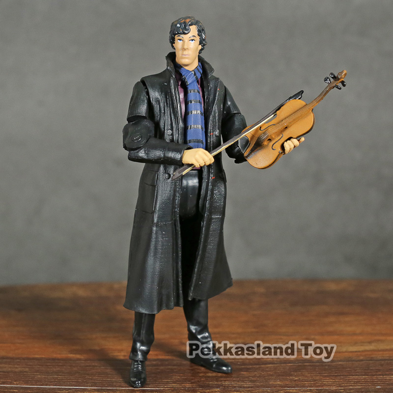 Toys & Hobbies Creative Neca Movie Film Detective Sherlock Holmes 22 1 B Benedict Cumberbatch With Phone Violin Skull Action Figure Toys 12cm