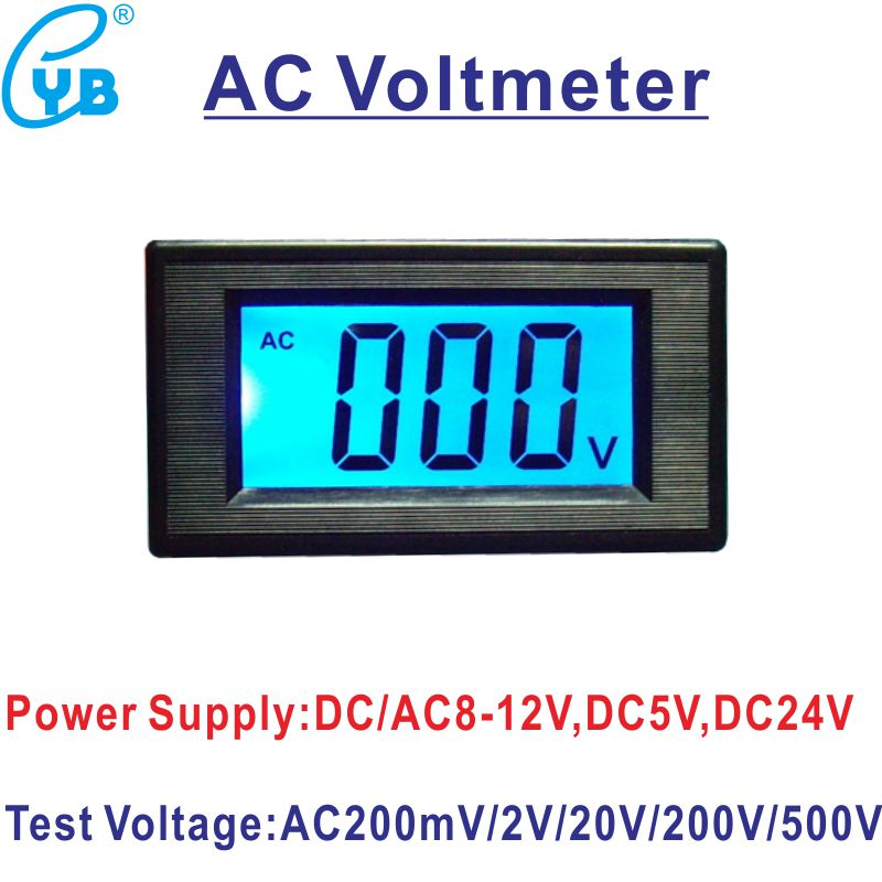 US $5.8 |YB5135D AC 500V 200V Voltage Digital Voltmeter Meter 20V 200mV  Wire Yb D Voltage Meter Wiring Diagram on