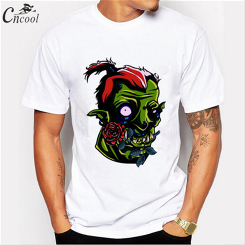 Cncool 2018 Mans T-shirt Orc Warrior Crazy Monster Plus Size New Brand T-shirt Casual Anime Fitness Short Sleeve